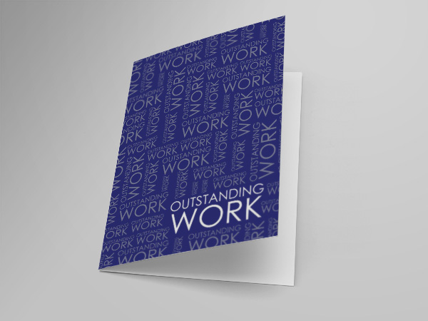Employee Recognition greeting card design and printing