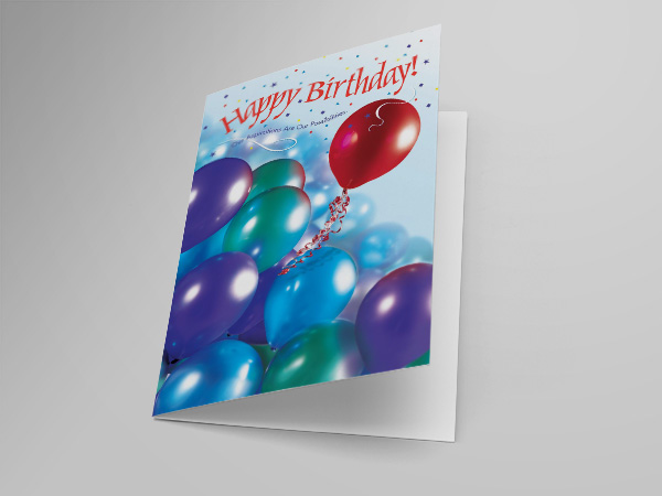 Happy Birthday greeting card design and printing