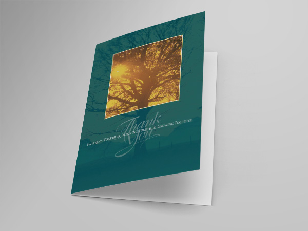 Thank You greeting card design and printing