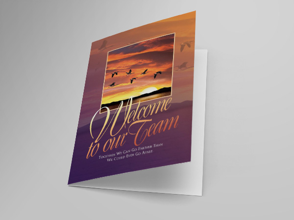 Welcome to Our Team greeting card design and printing